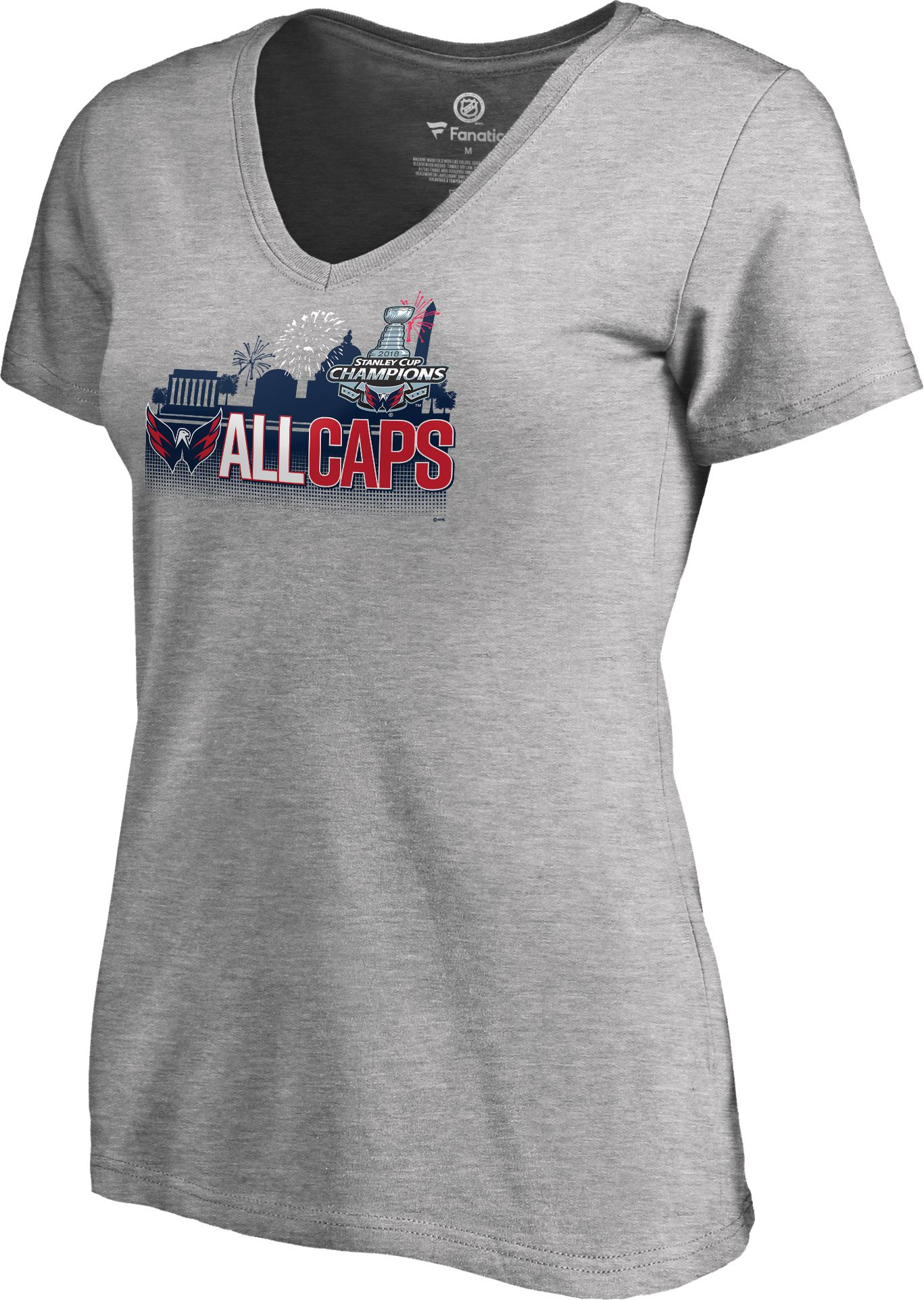 ... wholesale online acffe 4e65d NHL Womens 2018 Stanley Cup Champions  Washington Capitals Parade V-Neck ... 125b0995a6