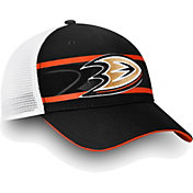 NHL Men's Anaheim Ducks Authentic Pro Second Season Black Trucker Adjustable Hat