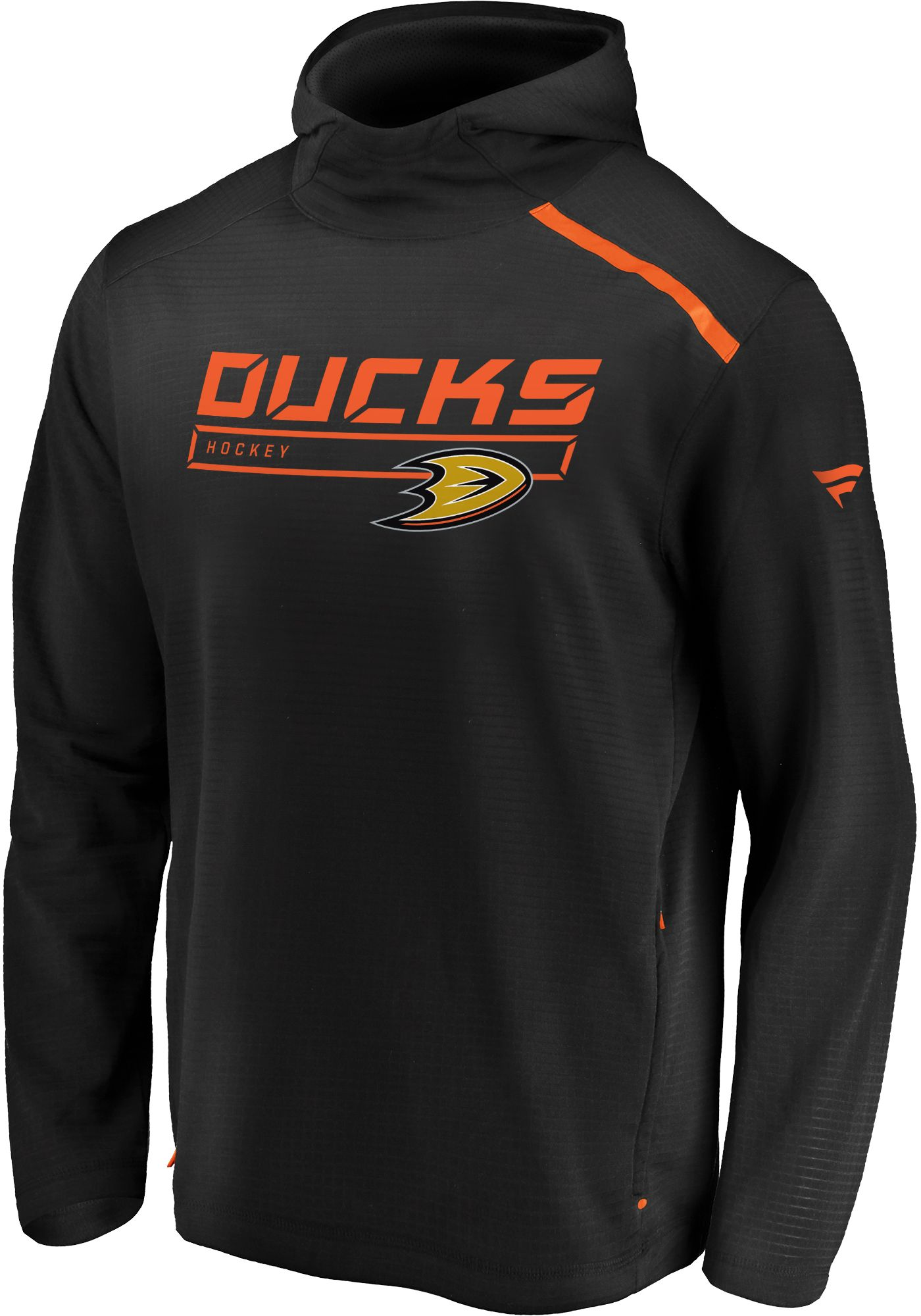 NHL Men's Anaheim Ducks Authentic Pro Transitional Black Pullover Hoodie