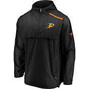 NHL Men's Anaheim Ducks Authentic Pro Black Anorak Jacket
