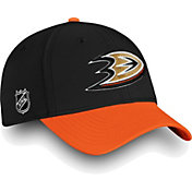 NHL Men's Anaheim Ducks Iconic Black Flex Hat