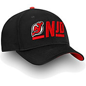NHL Men's New Jersey Devils Authentic Pro Rinkside Alpha Black Adjustable Hat