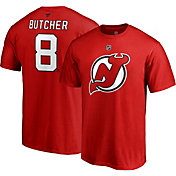 NHL Men's New Jersey Devils Will Butcher #8 Red Player T-Shirt