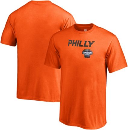 NHL Men s 2019 Stadium Series Philadelphia Flyers Logo Orange T-Shirt.  noImageFound 275066e0d