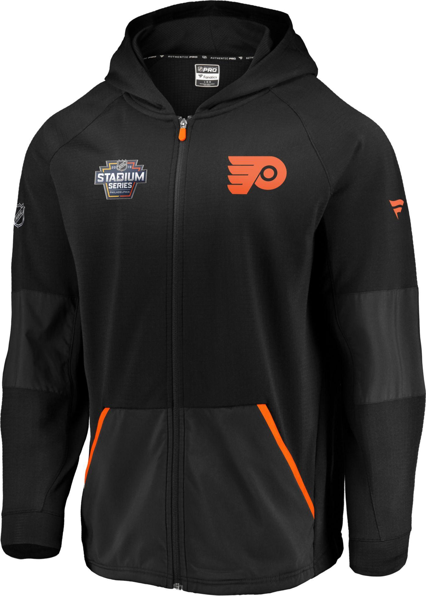 NHL Men's 2019 Stadium Series Philadelphia Flyers Rink Black Full-Zip Hoodie