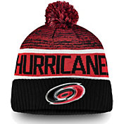NHL Men's Carolina Hurricanes Authentic Pro Rinkside Goalie Black Cuffed Knit Beanie