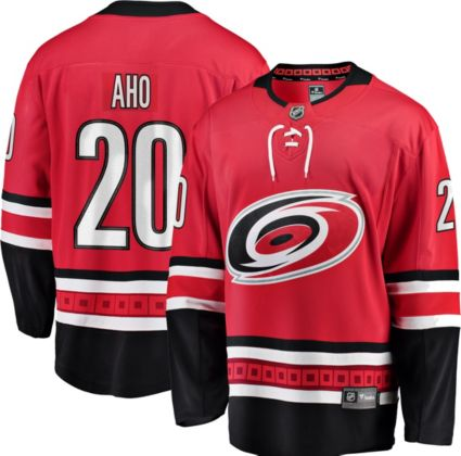 NHL Men s Carolina Hurricanes Sebastian Aho  20 Breakaway Home Replica  Jersey. noImageFound e70dd8114