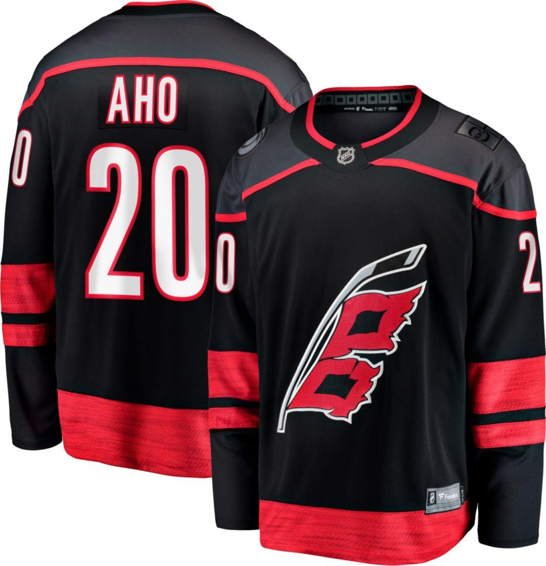 the latest 716ee c1a80 NHL Men's Carolina Hurricanes Sebastian Aho #20 Breakaway Alternate Replica  Jersey