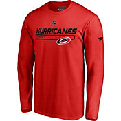 NHL Men's Carolina Hurricanes Authentic Pro Prime Red Long Sleeve Shirt