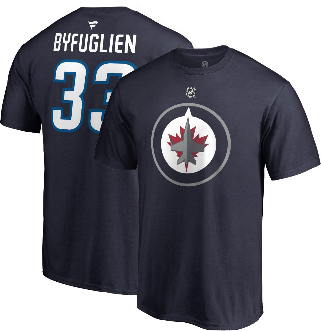 best website 55ea0 456e8 NHL Men's Winnipeg Jets Dustin Byfuglien #33 Navy Player T-Shirt
