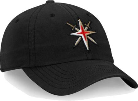 79610113b4dc7b NHL Men's Vegas Golden Knights Core Black Adjustable Hat
