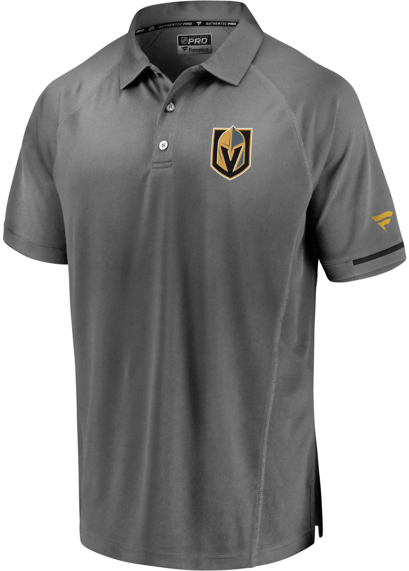 NHL Men's Vegas Golden Knights Authentic Pro Rinkside Grey Polo