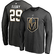 NHL Men's Vegas Golden Knights Marc-Andre Fleury #29 Heather Grey Long Sleeve Player Shirt