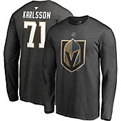 NHL Men's Vegas Golden Knights William Karlsson #71 Heather Grey Long Sleeve Player Shirt