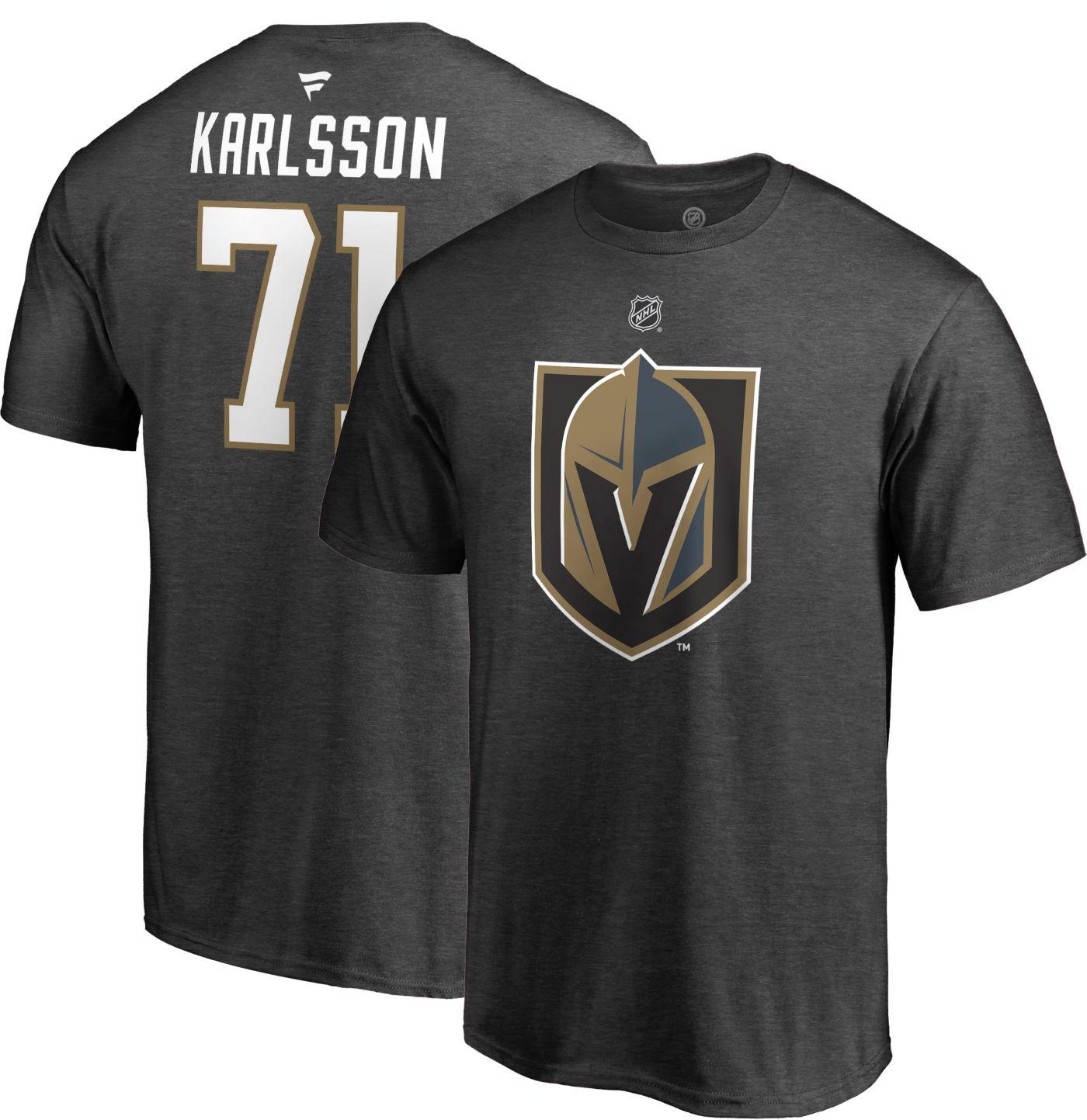 NHL Men's Vegas Golden Knights William Karlsson #71 Heather Grey Player T-Shirt