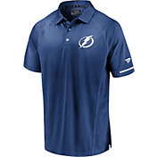 NHL Men's Tampa Bay Lightning Authentic Pro Rinkside Blue Polo