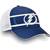 NHL Men's Tampa Bay Lightning Authentic Pro Second Season Blue Trucker Adjustable Hat