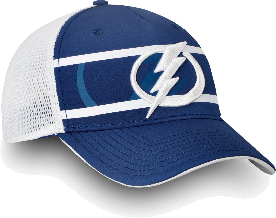 best sneakers 15318 65c78 NHL Men s Tampa Bay Lightning Authentic Pro Second Season Blue Trucker  Adjustable Hat 1