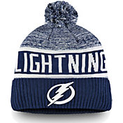 NHL Men's Tampa Bay Lightning Authentic Pro Rinkside Goalie Blue Cuffed Knit Beanie