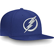 NHL Men's Tampa Bay Lightning Core Logo Blue Snapback Adjustable Hat
