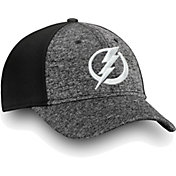NHL Men's Tampa Bay Lightning Black and White Flex Hat