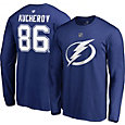 NHL Men's Tampa Bay Lightning Nikita Kucherov #86 Royal Long Sleeve Player Shirt
