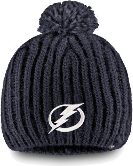 NHL Women s Tampa Bay Lightning Iconic Knit Beanie  030cc689b17