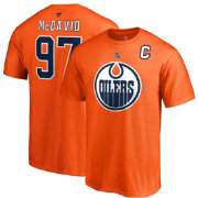 NHL Men's Edmonton Oilers Connor McDavid #97 Orange Player T-Shirt
