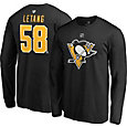 NHL Men's Pittsburgh Penguins Kris Letang #58 Black Long Sleeve Player Shirt