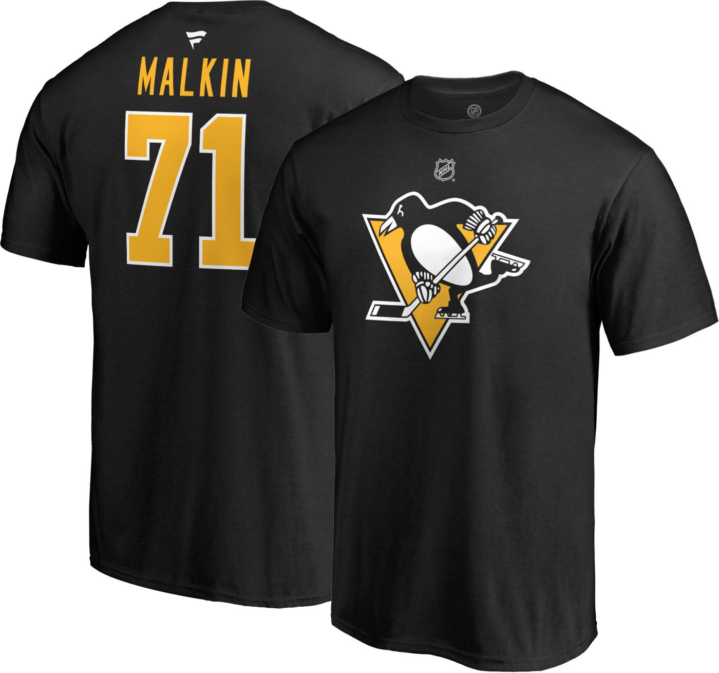 NHL Men's Pittsburgh Penguins Evgeni Malkin #71 Black Player T-Shirt