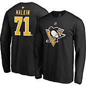 NHL Men's Pittsburgh Penguins Evgeni Malkin #71 Black Long Sleeve Player Shirt