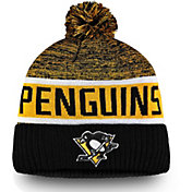 NHL Men's Pittsburgh Penguins Authentic Pro Rinkside Goalie Black Cuffed Knit Beanie