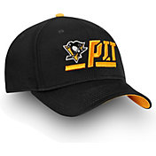 NHL Men's Pittsburgh Penguins Authentic Pro Rinkside Alpha Black Adjustable Hat