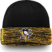 NHL Men's Pittsburgh Penguins Authentic Pro Rinkside Black Cuffed Knit Beanie