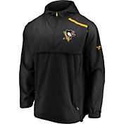 NHL Men's Pittsburgh Penguins Authentic Pro Yellow Anorak Jacket