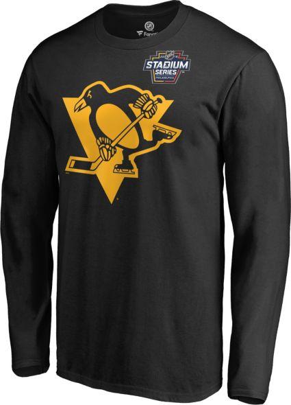 NHL Men s 2019 Stadium Series Pittsburgh Penguins Logo Black Long Sleeve  Shirt. noImageFound 5455ac7d3