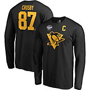 NHL Men's 2019 Stadium Series Pittsburgh Penguins Sidney Crosby #87 Black Long Sleeve Player Shirt