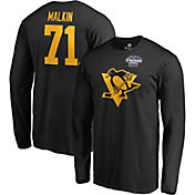 NHL Men's 2019 Stadium Series Pittsburgh Penguins Evgeni Malkin #71 Player Long Sleeve Black Shirt