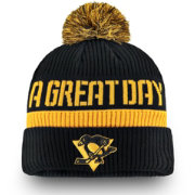 NHL Men's 2019 Stadium Series Pittsburgh Penguins Black Cuffed Pom Knit Beanie