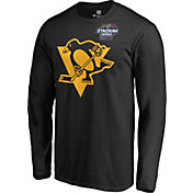 NHL Men's 2019 Stadium Series Pittsburgh Penguins Logo Black Long Sleeve Shirt