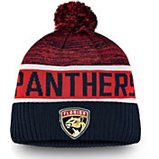 NHL Men's Florida Panthers Authentic Pro Rinkside Goalie Navy Cuffed Knit Beanie