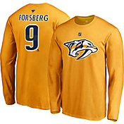 NHL Men's Nashville Predators Filip Forsberg #9 Gold Long Sleeve Player Shirt