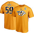 NHL Men's Nashville Predators Roman Josi #59 Gold Player T-Shirt