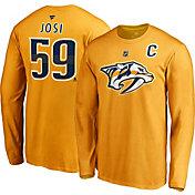 NHL Men's Nashville Predators Roman Josi #59 Gold Long Sleeve Player Shirt