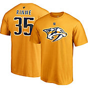 NHL Men's Nashville Predators Pekka Rinne #35 Gold Player T-Shirt