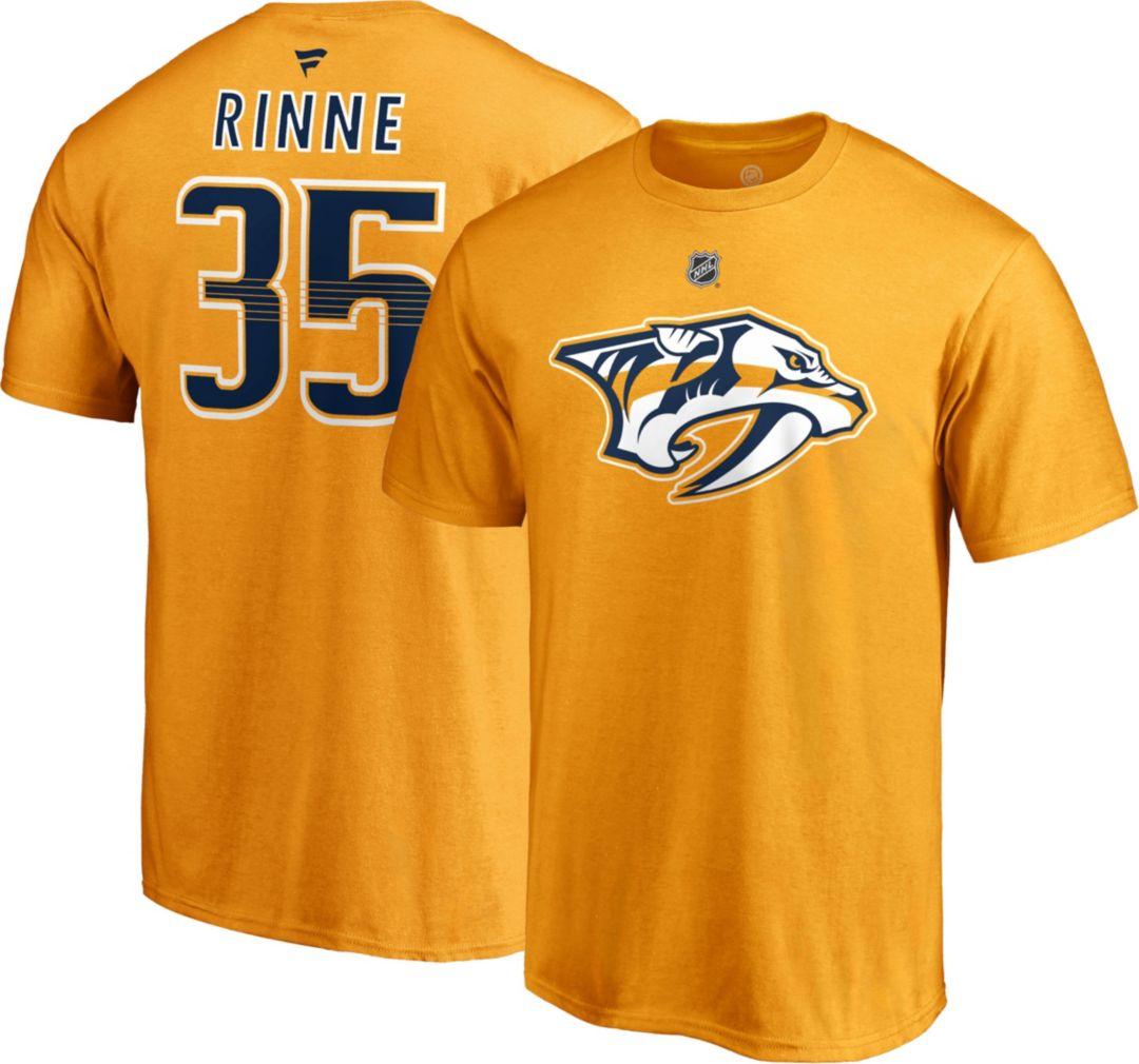 best service 40772 d2841 NHL Men's Nashville Predators Pekka Rinne #35 Gold Player T-Shirt