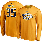 NHL Men's Nashville Predators Pekka Rinne #35 Gold Long Sleeve Player Shirt