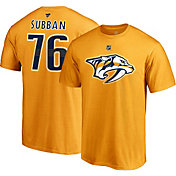 NHL Men's Nashville Predators P.K. Subban #76 Gold Player T-Shirt