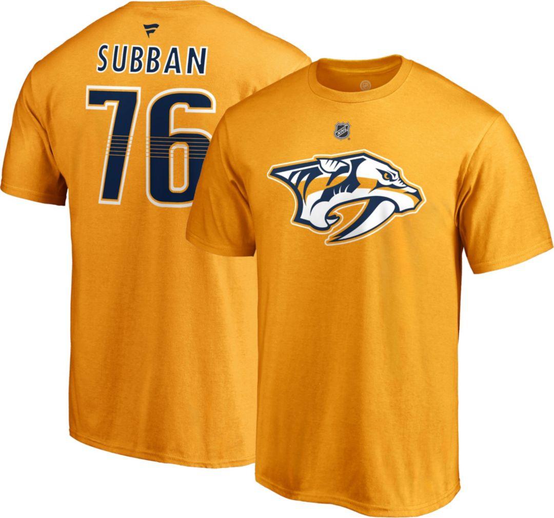 timeless design 4d785 b7796 NHL Men's Nashville Predators P.K. Subban #76 Gold Player T-Shirt