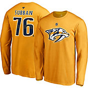 NHL Men's Nashville Predators P.K. Subban #76 Gold Long Sleeve Player Shirt
